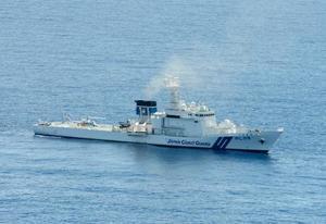 原発テロ対策を目的に配備される巡視船と同規模のPL型巡視船=2012年9月