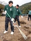 ワンチームで砂浜清掃 小浜・若狭東高 ラグビー…