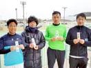 男子優勝は今津・中出組 テニス県ダブルストーナ…