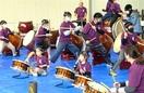 和太鼓2グループ豪快に打ち鳴らす 坂井で演奏会