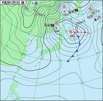 実況天気図(12日午前3時)気象庁HPより