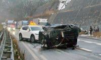 北陸道7台事故、1人重体4人重傷