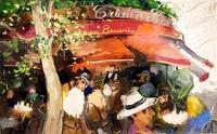 今こそ描くパリの日常 松井ヨシアキさん 福井で油彩画37点展示