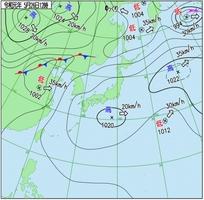 5月26日正午の天気図(気象庁HPより)