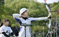 初Vで五輪へ名乗り アーチェリー女子の入江 スポーツランド