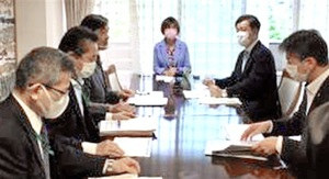 新型コロナウイルス対策について話し合った会議の初会合=5月21日、自民党本部