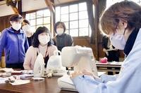勝山の繊維会社が布マスク作り講習