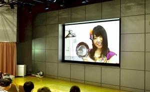 仮面女子が鯖江市の魅力を歌にのせて紹介するPV=5月3日夜、福井県の鯖江市文化の館