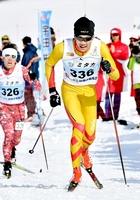 スキー距離の成年男子Bで4位入賞した宇田峻也
