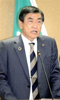 勝山 山岸市長が引退表明 後継に副市長指名 「残り任期全力」