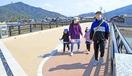 新しい耳川橋が開通、景観に配慮