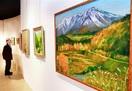 風景画や染め物多彩表現で120点 市美術館で愛…