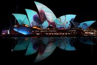 冬のシドニーで光の祭典