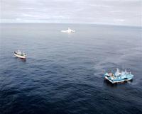 大和堆で日韓漁船衝突