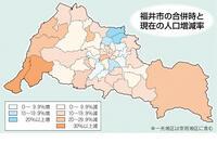 幸せどう実現するか 合併時から8千人超減 福井市政の課題_市長選2019 人口減(下)