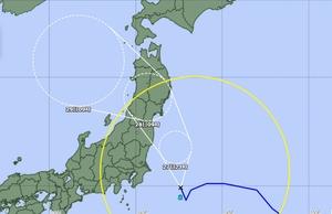 台風8号の経路図=2021年7月27日午前9時時点(気象庁HP引用)