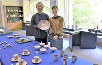越前焼作家夫婦が 暮らしの器を展示 越前町・県陶芸館