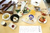 万葉集の風情 御膳で堪能を 幸伸食品(永平寺町)提供 「令和」ちなみ直営店で 豆腐中心、全13品