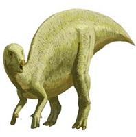 発見された化石の恐竜に近いとされるイグアノドン(大野市教委提供、山本匠さん作画)