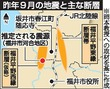 福井の昨秋地震、震源地は震度5強か