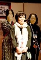 グランプリ受賞の喜びを語る出演者=10月28日、福井県あわら市金津創作の森