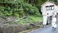 台風シーズンを迎え土砂災害パトロール 県予防対策連絡協