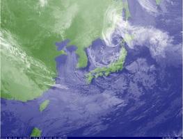 4日午後2時半の雲画像(気象庁HPより)
