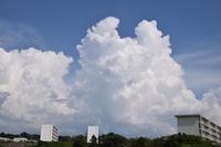 ムクムクと入道雲、積乱雲に成長