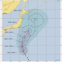 台風21号の予想進路=2019年10月23日現在(出典元:JTWC)