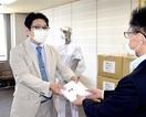 医療用ガウン600着県に寄贈 敦賀のNPO法人