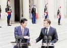 日仏首脳会談 G20へ経済、環境で連携 安倍氏…