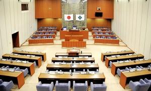 福井県福井市議会の本会議場