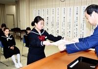 非行防止標語審査 木村さんが最優秀 小浜署など表彰