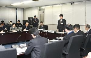 新型コロナウイルスの感染拡大を受け福井県が設置した警戒本部の初会議=2月18日、福井県庁