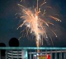 高浜町の夜空にサプライズ花火