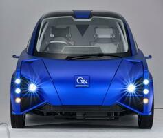 東京モーターショーで展示される、既存のEVよりも消費電力を20%以上削減できるというEV