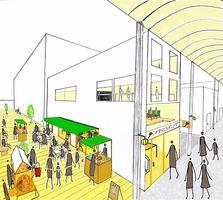 福井市のガレリア元町商店街にある空きビルを再生する「これからビル」(仮称)のイメージ図