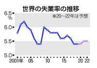 世界の失業率改善止まるとILO