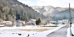 2018年末に自治会が解散した福井県福井市東俣町=1月11日