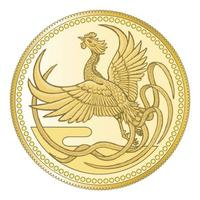 天皇陛下即位を記念した1万円金貨の表面のイメージ