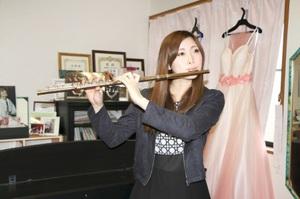 演奏家の育成やプロデュースを手掛ける会社を設立した山本晴香さん=福井県鯖江市