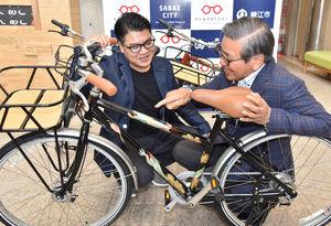 漆塗り自転車完成