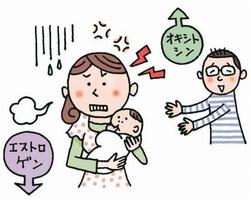 産後のお母さんの心と体 イラスト・小林孝文