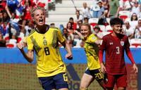 女子W杯、スウェーデンが2連勝