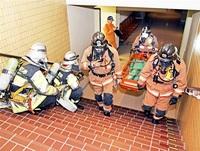 市企業局職員らがガス漏れ対応訓練 フェニックス・プラザ