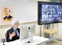 グリフィス議論熱く 福井大×米ラトガース大合同授業 オンラインで実現 功績を探求