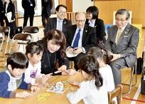 国連永久大使が鯖江の「眼育」視察