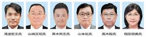 福井県選出の国会議員6人