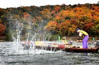 バシャ 冬の合図 若狭町・三方湖たたき網漁開始
