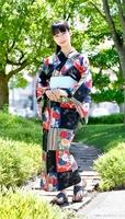 ミスなでしこ日本で東京大会3位になった三木杏奈さん=6月29日、福井県福井市の福井新聞社